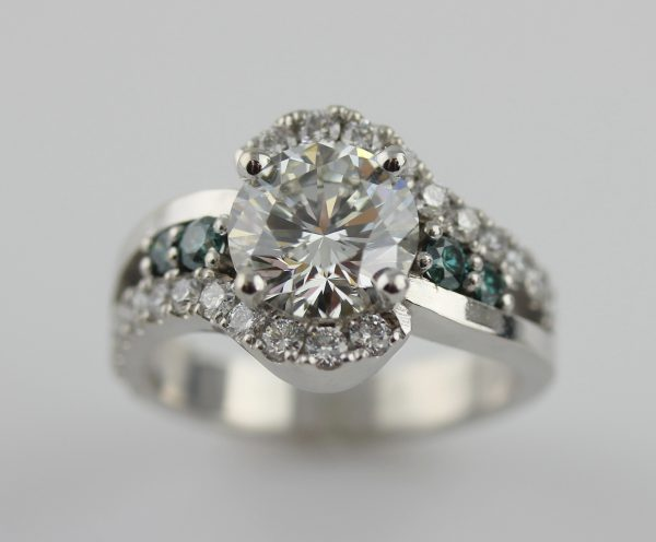 Custom rings with diamonds