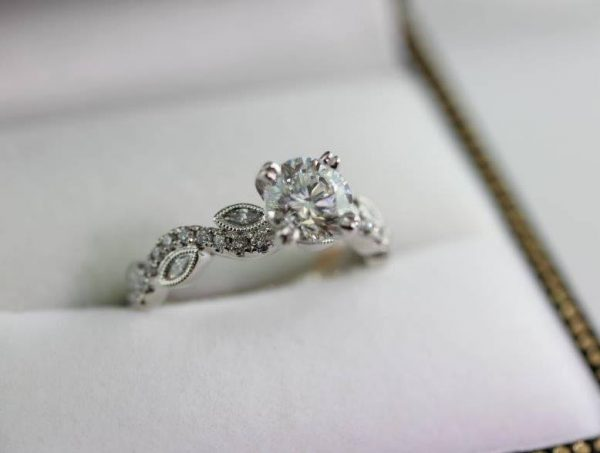 Engagement ring at Tillman Park proposal from Barbara Oliver Jewelry
