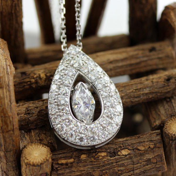 Custom dimaond pendant