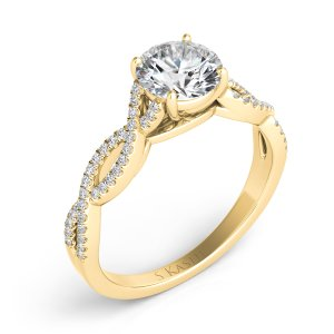 Engagement ring in 14K Yellow Gold