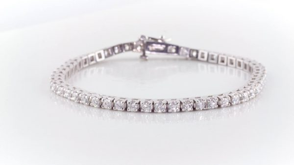 tennis bracelet with 4 carats total weight in diamonds