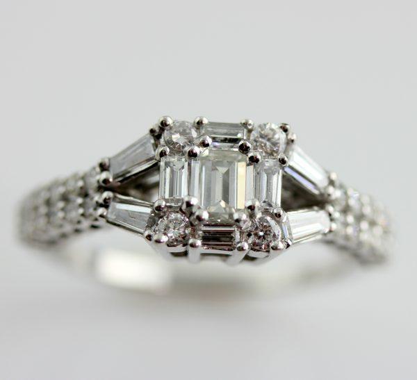 Custom designed diamond ring