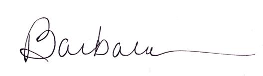 Barbara Oliver signature